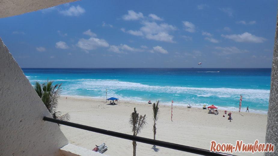 Пляж Канкун (Cancun beach). Нереально бирюзовая вода Карибского моря