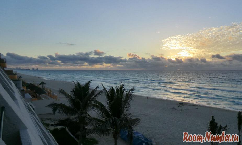 Рассвет в Канкуне