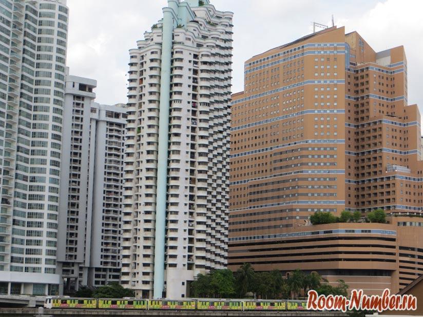 На фото Kuala Lumpur жилые районы