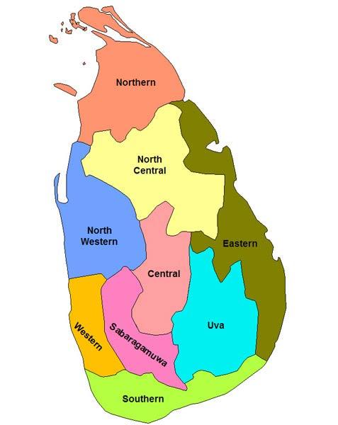 схема провинций