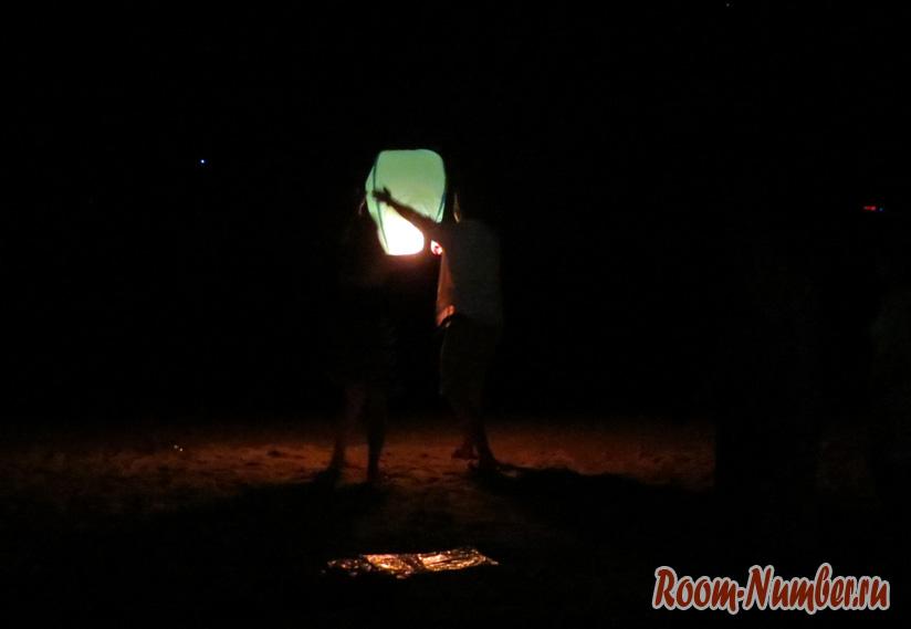 Запуск фонариков на новый год