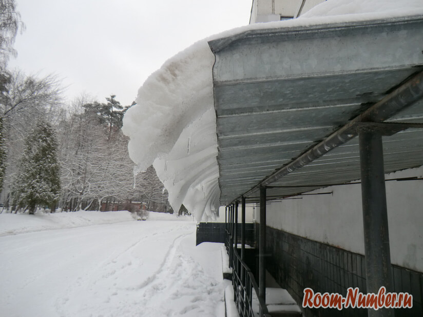 Санаторий Светлана снег