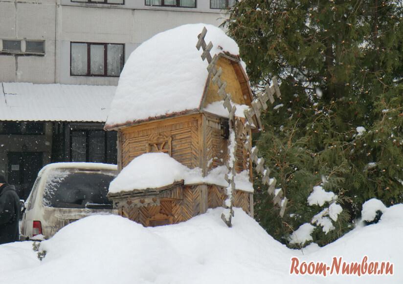 Мельница в снегу