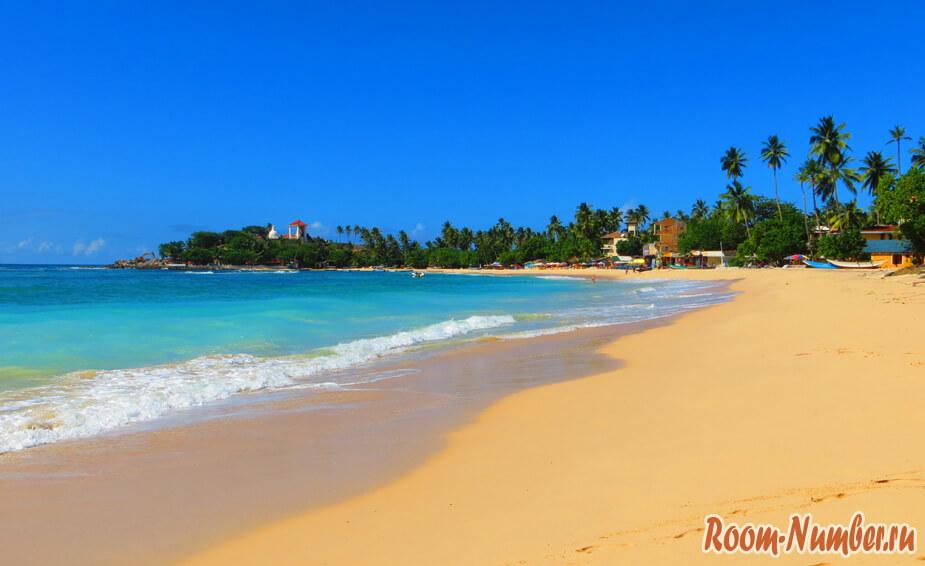 фото пляжа Унаватуна Шри Ланка