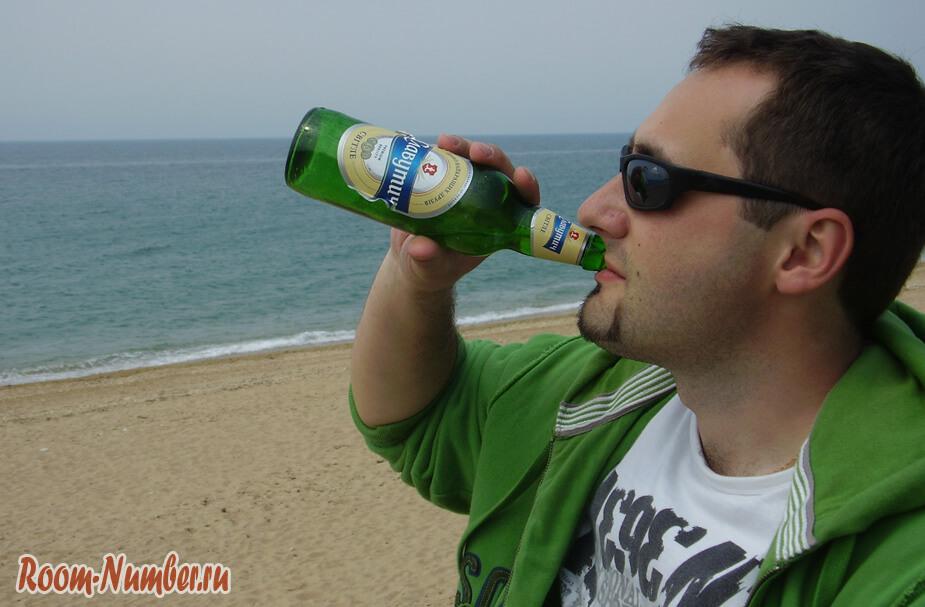 пью пиво