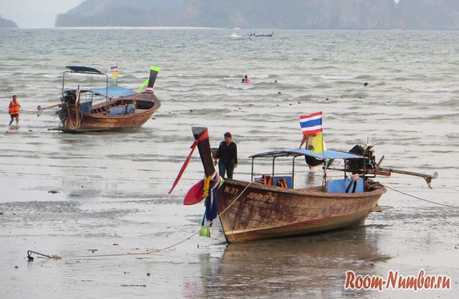 Отливы на пляже Ао-Нанг