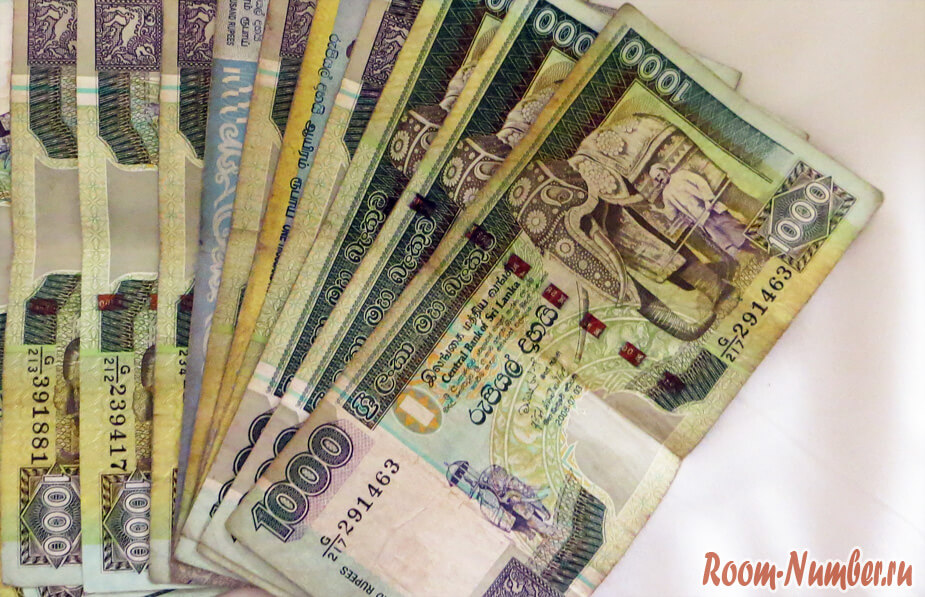 Наши расходы за месяц в Шри-Ланке