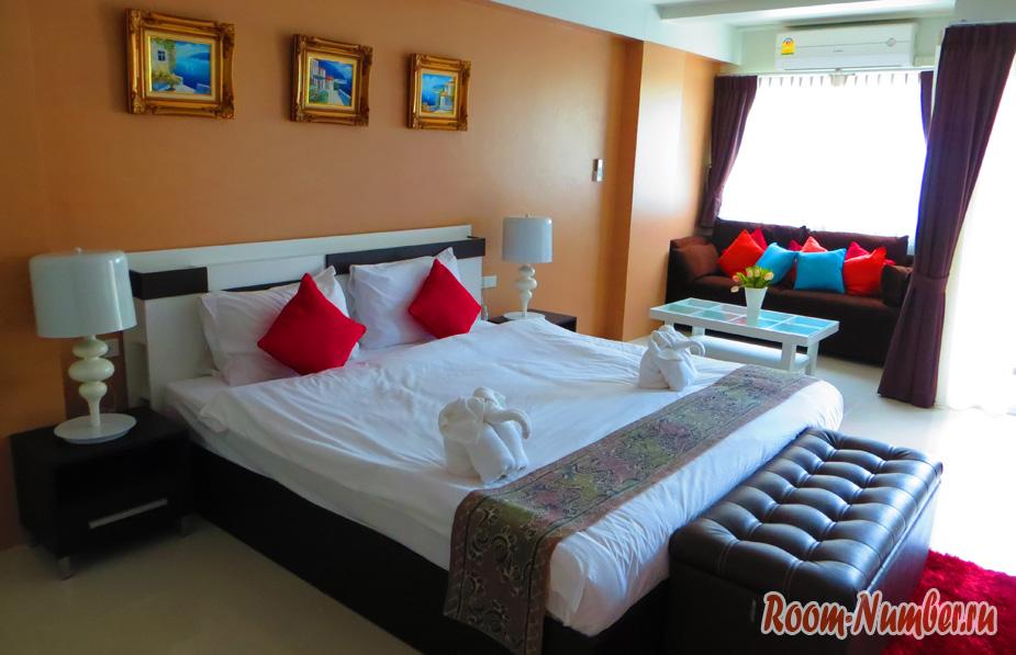 спальня в отеле Ao Nang Mountain View