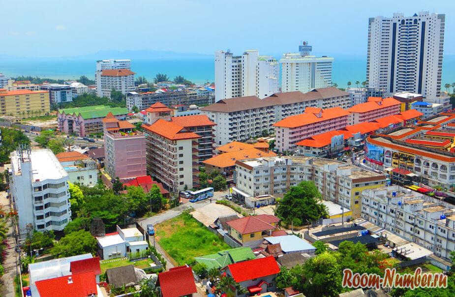 Город Паттайя фото с высоты