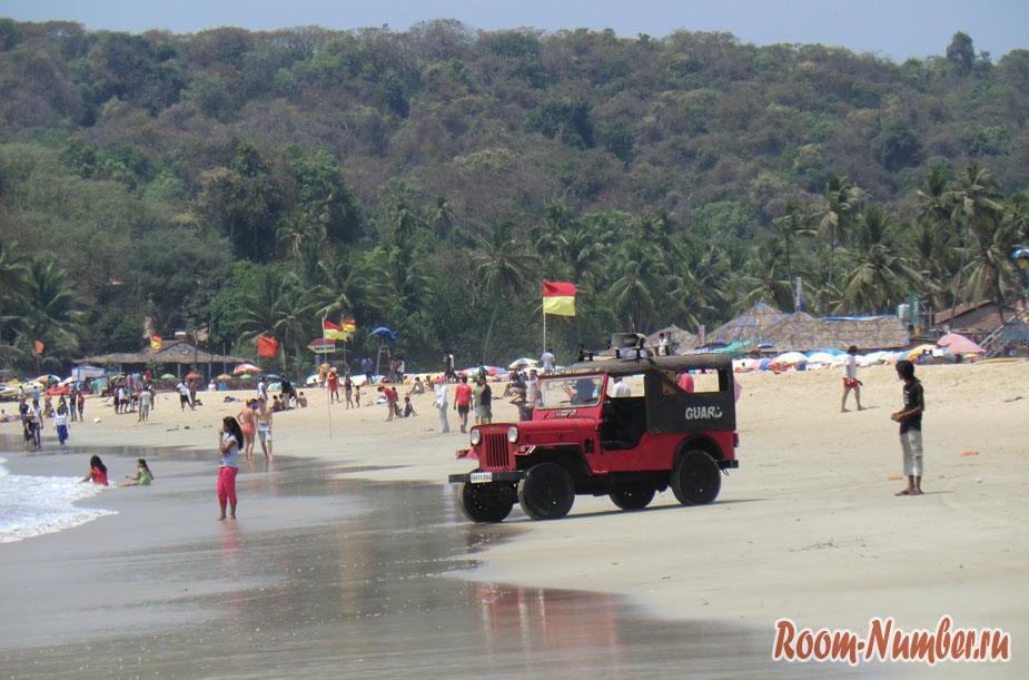 Пляж Бага в Гоа или Baga Beach — главный пляж в Северном Гоа