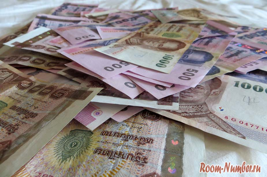 Расходы за месяц в Краби