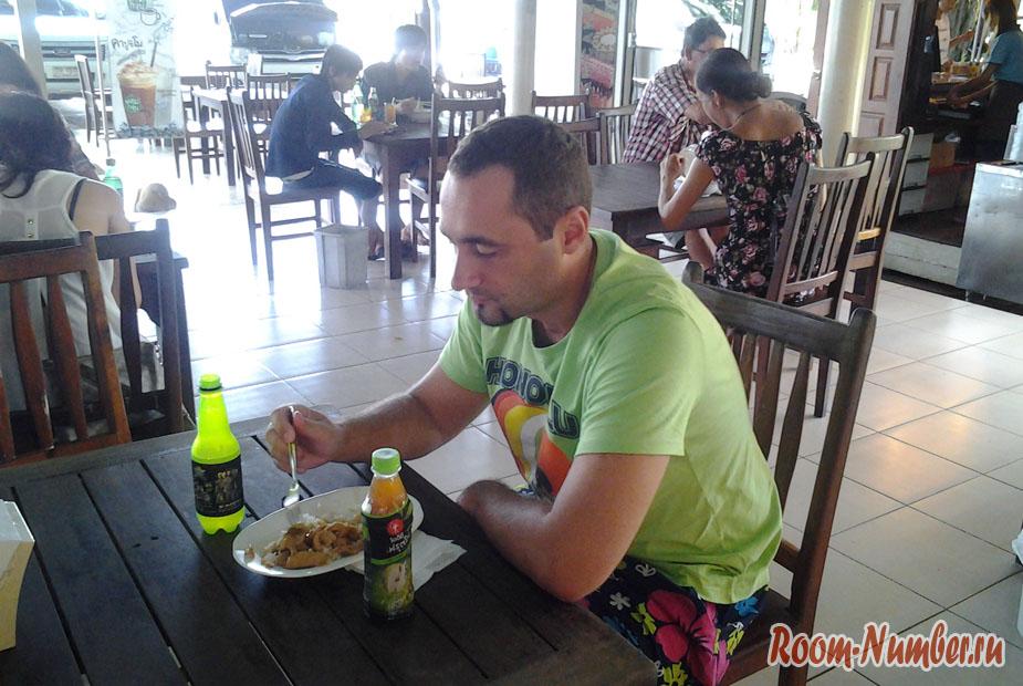 Питание входит в стоимость после бордер рана в Камбоджу
