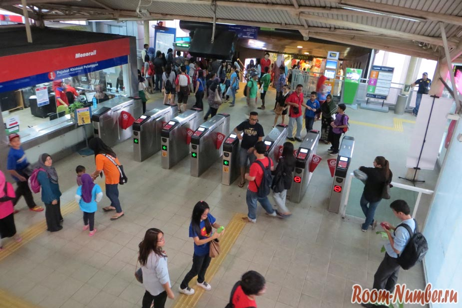 турникеты в метро куала лумпур