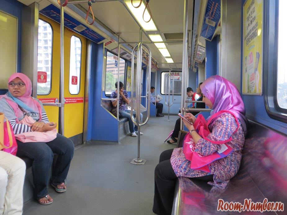 Выгон метро в Куала Лумпур