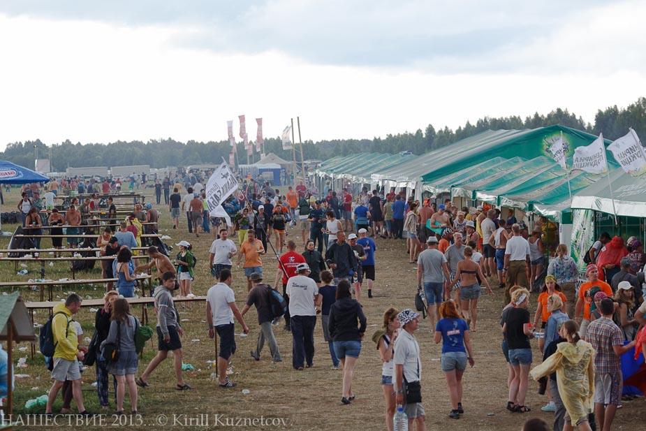 Продуктовые палатки на Нашествии