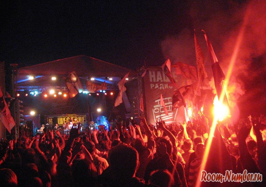 Рок-фестиваль Нашествие, вечер
