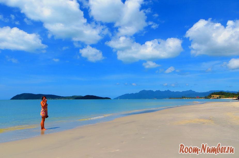 Пляж Пантай Тенгах и небо