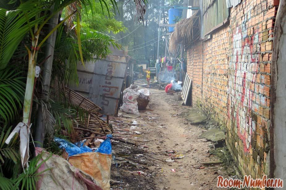 трущобы Камбоджа