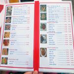 меню в кафе в сиануквиле