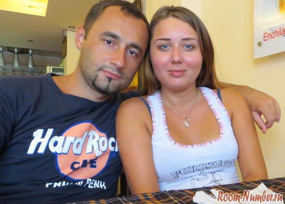 мы в кафе в хошимине