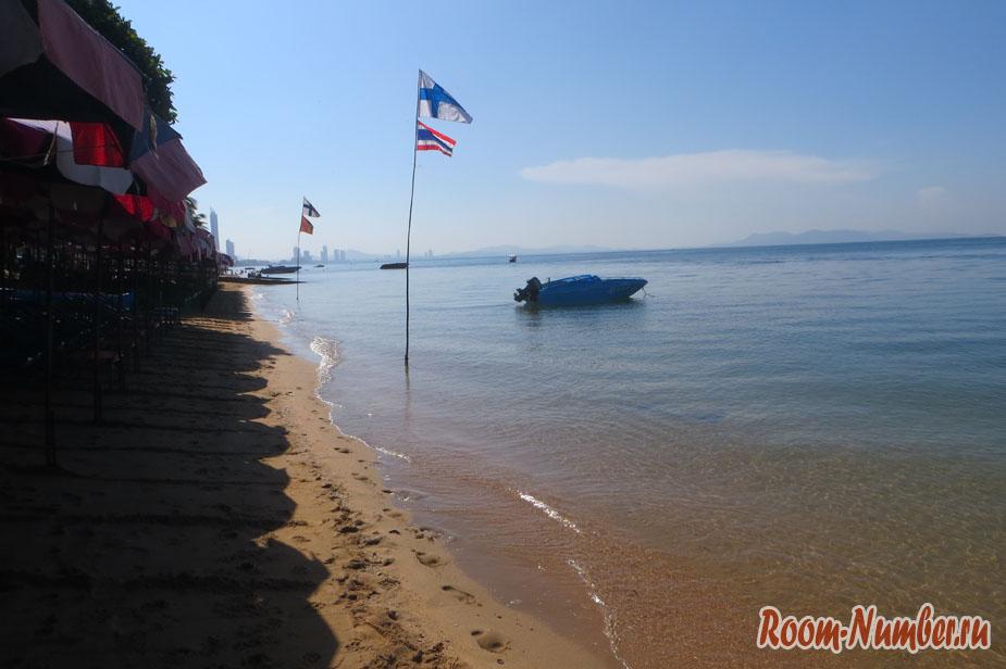 Паттайя в ноябре - фото пляжа рано утром