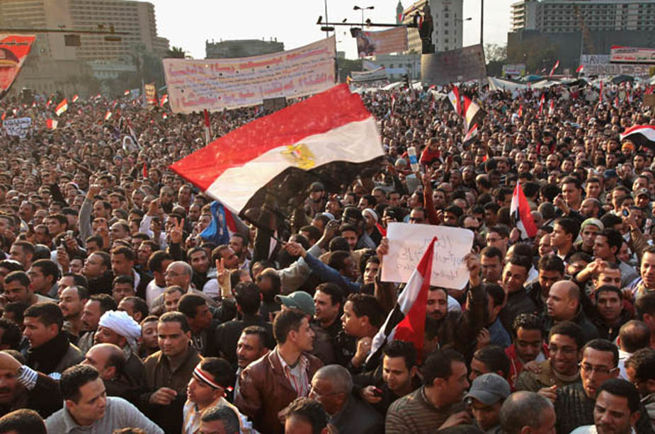 Anti-Mubarak Protesters Continue to Occupy Tahrir Square In Cairo