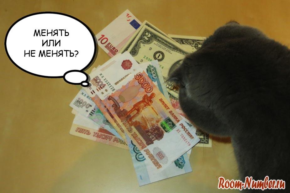 Рубль опять падает, стоит ли менять сейчас рубли на доллары?