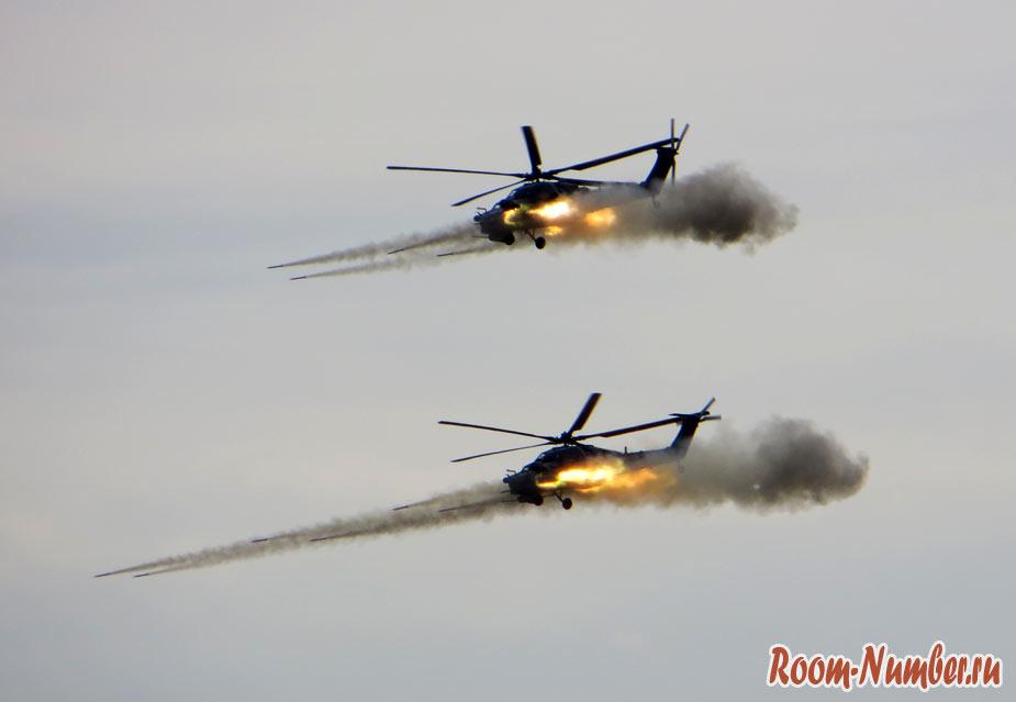 Ми-28 пуск НАР