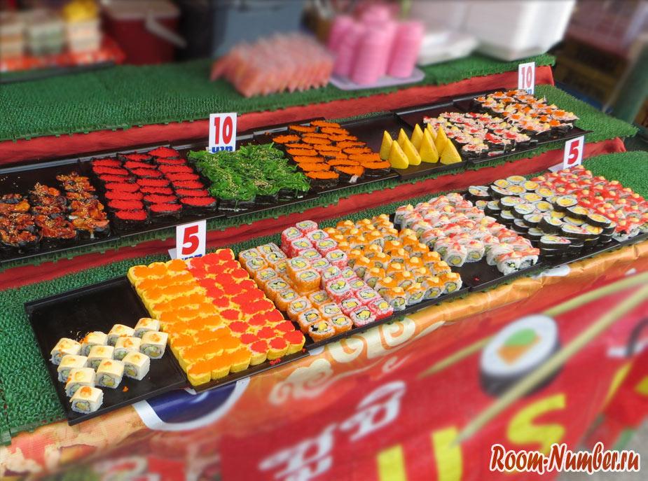 любимые суши в таиланде