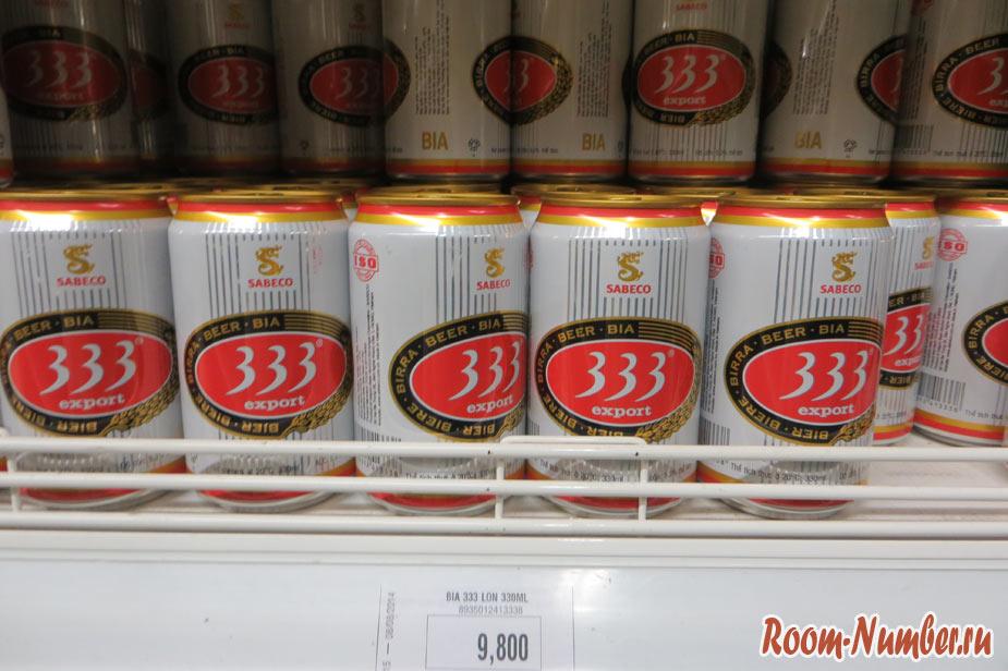 пиво 333 вьетнам