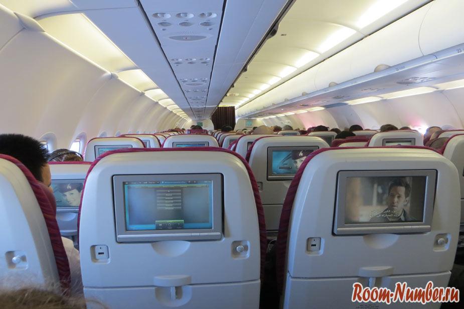 Qatar Airways салон самолета