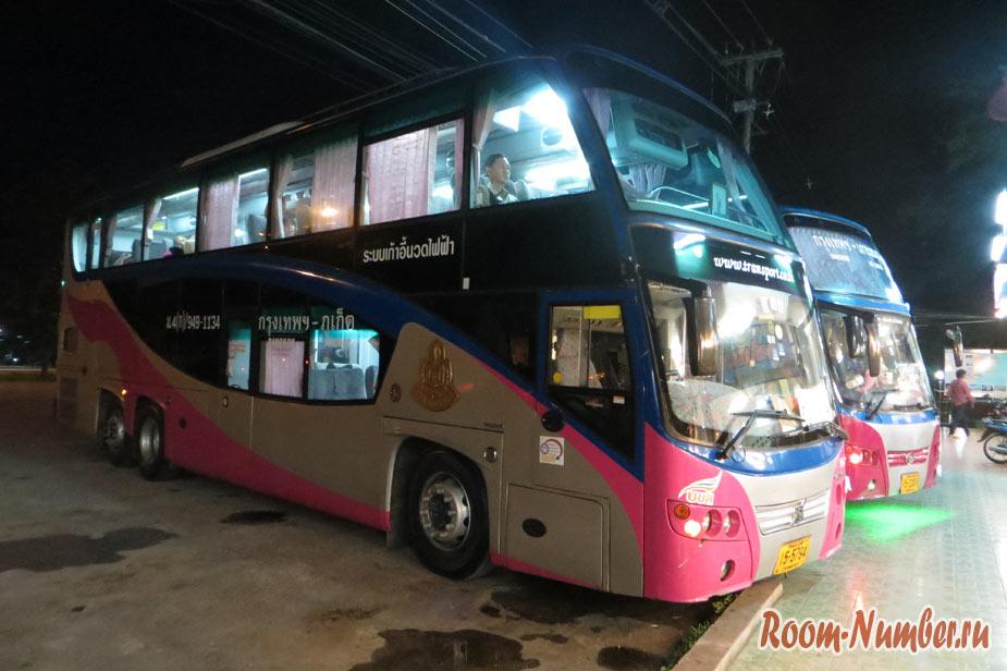 Как доехать из Хуа Хина на Пхукет. Ночной автобус из Бангкока