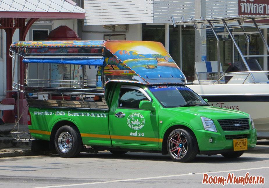 Транспорт в Хуа Хине: маршруты сонгтео (тук тук), остановки и стоимость
