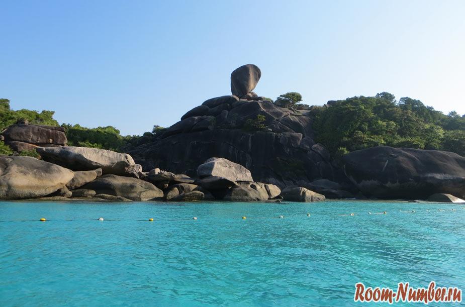 скала парус similan islands