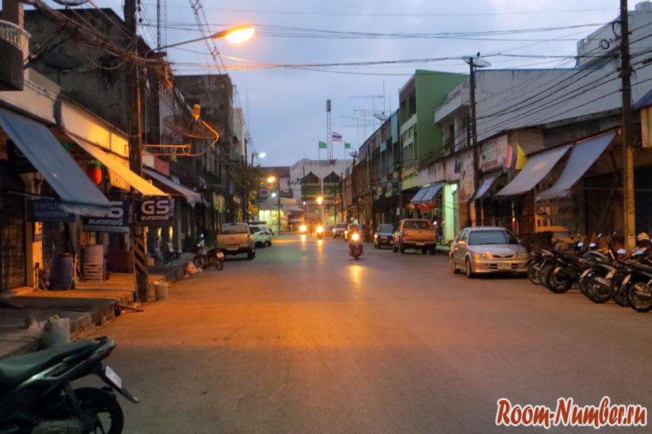 ночная улица в сатуне