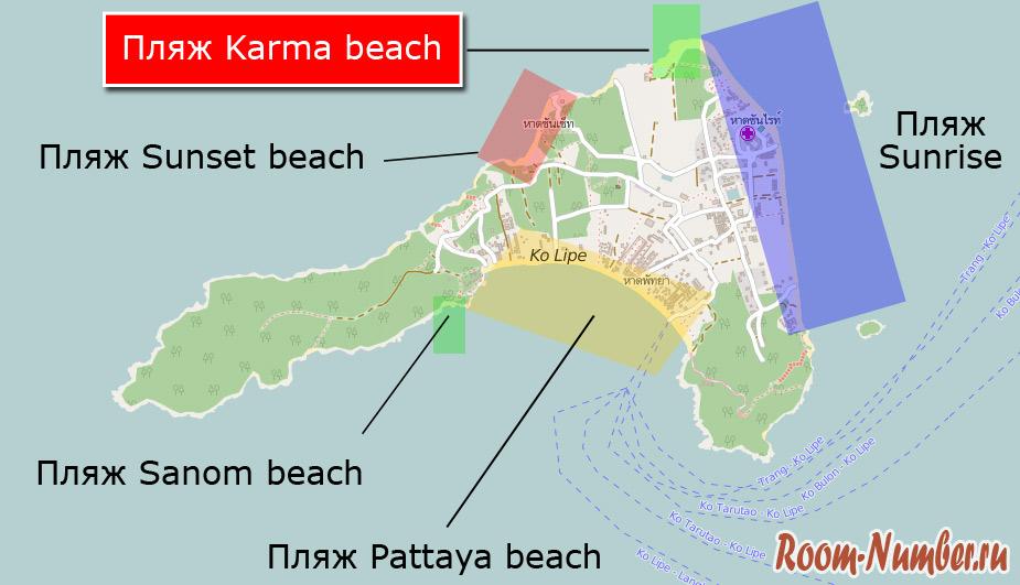 пляж отеля маунти вью на карте