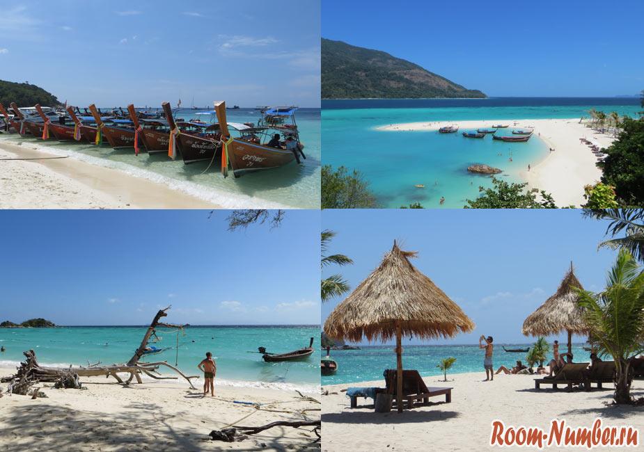 Пляжи Ко Липе. Все пляжи с отелями, фото и точками на карте
