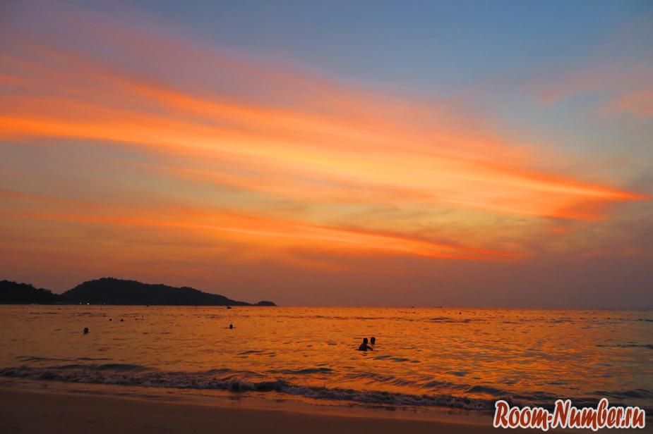 Фото - красивый закат, Пхукет