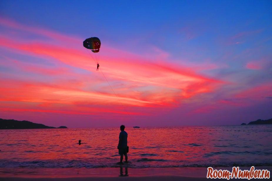 Закаты на Пхукете, пляж Патонг