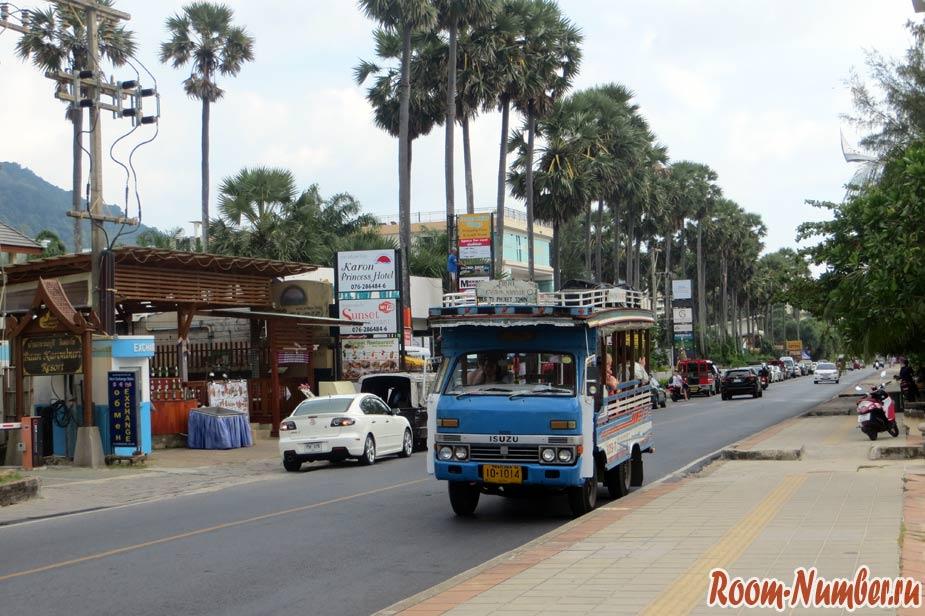 Маршруты автобусов на Пхукете