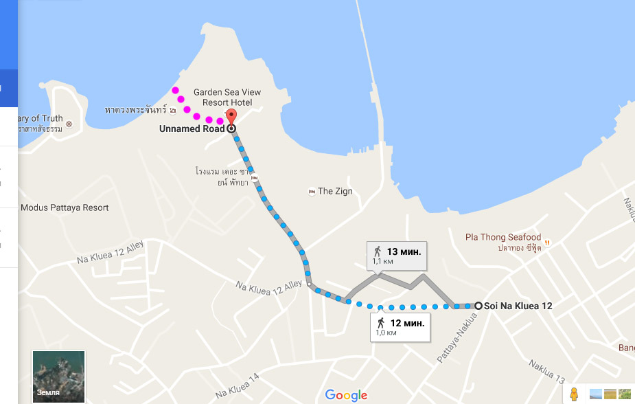 карта как добраться до пляжа вонг прачан