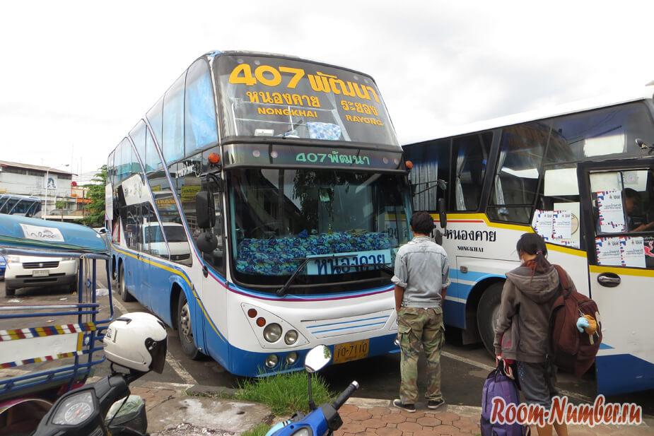 Как добраться из Паттайи в Нонгкхай на автобусе без пересадок