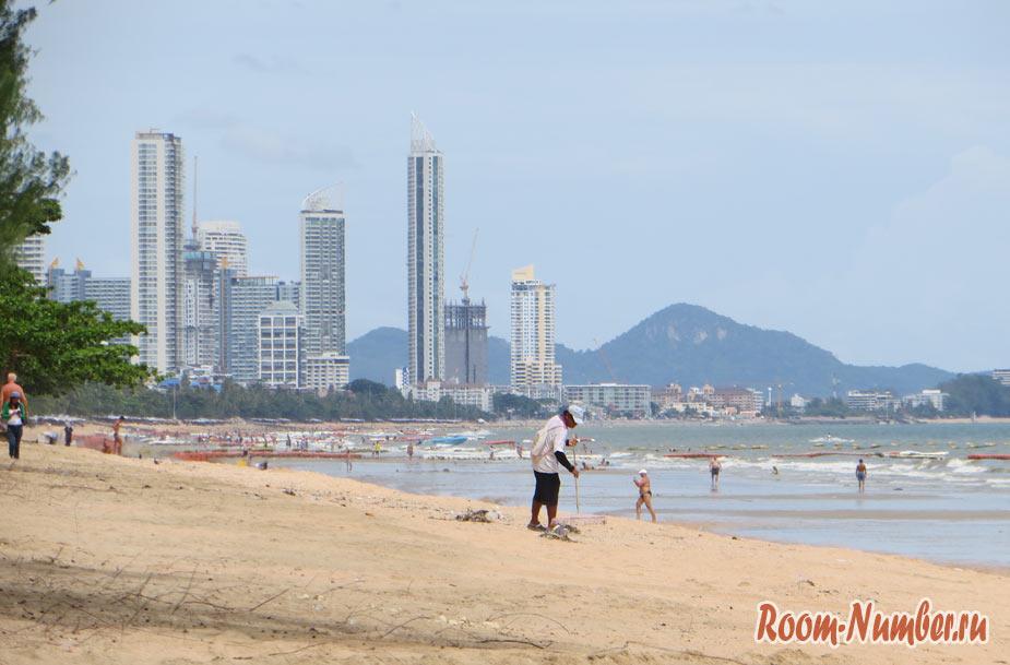 фото пляжа донгтан бич в паттайе