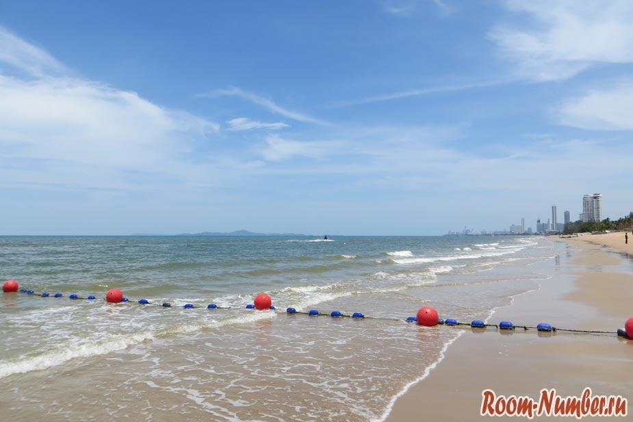море на пляже амбассадор в паттайе более чистое
