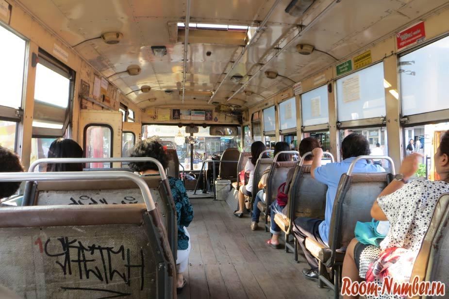 салон автобуса в бангкоке