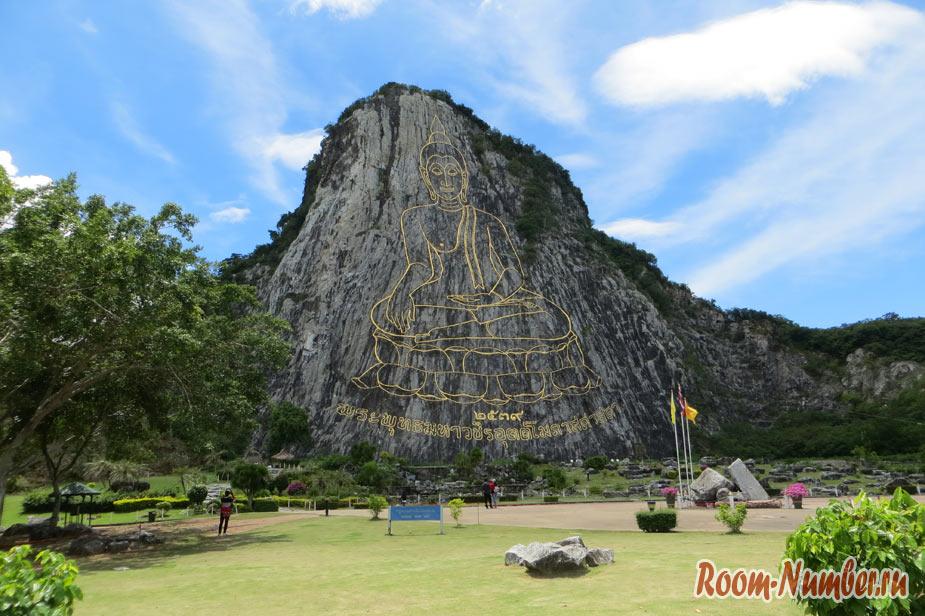 Гора с изображением Будды Паттайя
