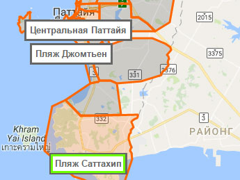 Sattahip карта