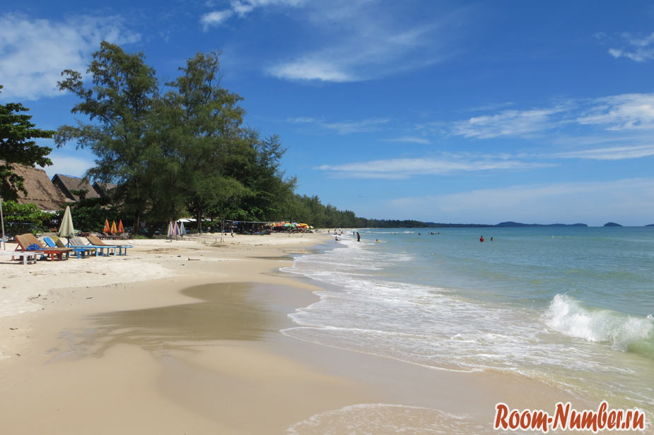 Пляж Очутел, Камбоджа. Дикий пляж в Сиануквиле