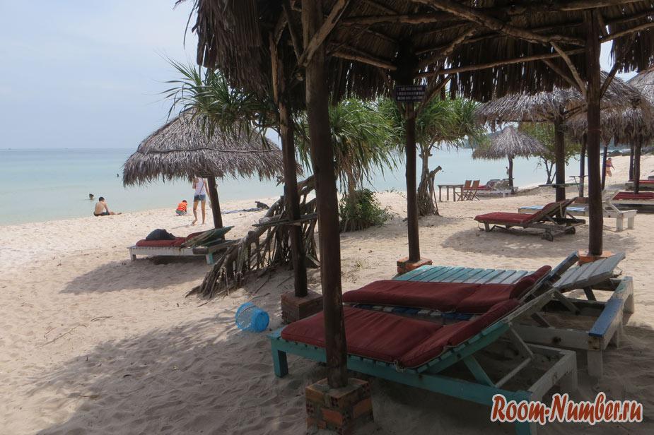 Пляж Бай Сао, Фукуок, Вьетнам. Пляж с белым песком на Фукуоке