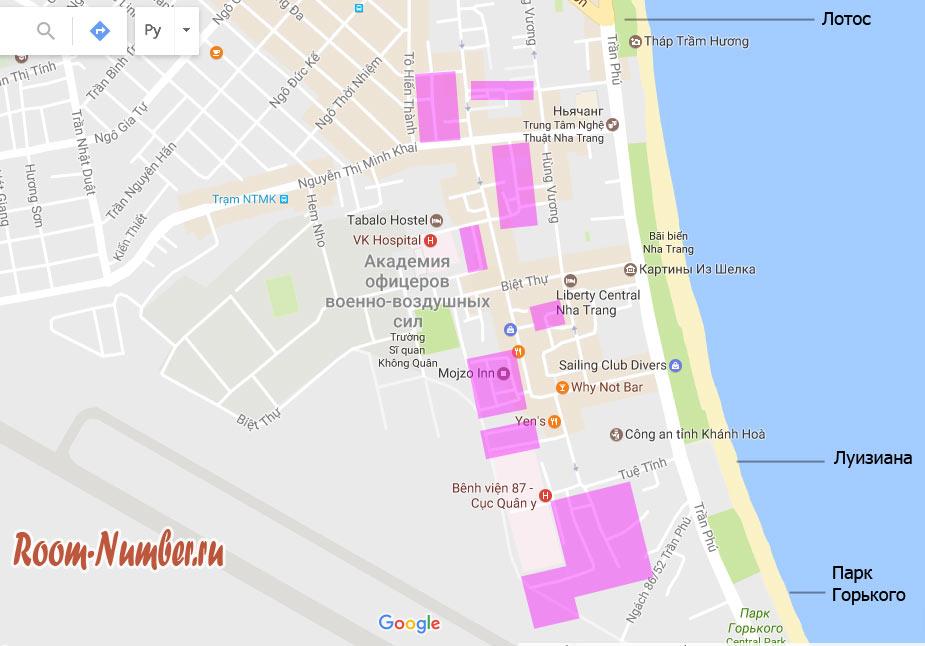 карта районов нячанга где искать квартиры